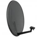 Palydovinė TV antena ASC-800PR/M-C 80cm perforuota, juoda