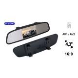 """Automobilinis veidrodėlis su 4,3"""" LCD ekranu AV 12V Nvox NW430M"""