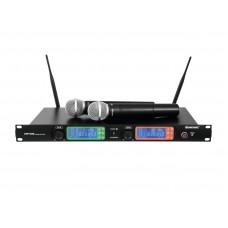 Bevieliai mikrofonai Omnitronic UHF-502 823-832Hz