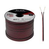 Kabelis garsiakalbiams 2x1.00mm aliuminis dengtas variu Red/Black