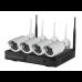 Belaidė tinklinė vaizdo įrašymo sistema WiFi NVR Kit PMX 4CH+4vnt 1080P kamerų