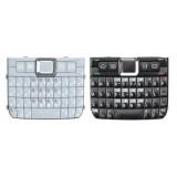 Klaviatūra Nokia E71 juoda, sidabrine (HQ)