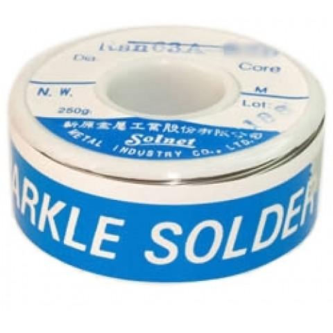 Lydmetalis 0,5mm 100g 63Sn/37Pb 1,8% fliuso Solnet