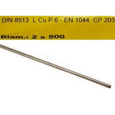 Lydmetalis - vario ir fosforo lydinys 2x500mm 94Cu/6P