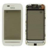 LCD Nokia 603 touch screen with frame (original) white