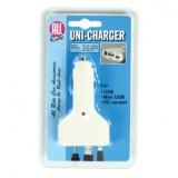 Įkroviklis 12V universalus USB, mini USB, DC socket 5V  500mA
