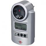 Elektros energijos suvartojimo matuoklis su laiko matavimo funkcija
