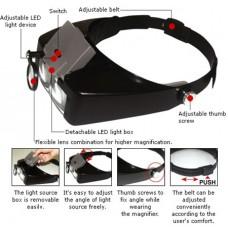 """Didinamieji akiniai tvirtinami ant galvos su LED MA-016 Pro""""sKit"""