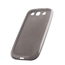 Dėklas guminis Samsung i8160 Galaxy Ace2 permatomas juodas