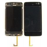 Touch screen Nokia N900 with frame black originalas
