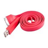 USB kabelis iPhone 3G/4/4S red