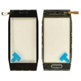 Touch screen Nokia X7 with frame black originalas