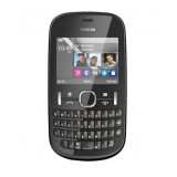 Korpusas Nokia 200 Asha black HQ