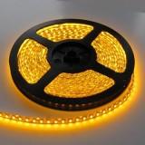 LED juosta SMD3528 12V 9.6W/m (0.235W/mod) hermetiška IP54 geltona 2.5cm