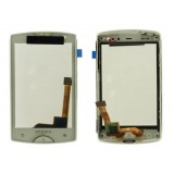 Touch screen Sony Ericsson ST15i  Xperia mini with frame white originalas