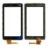 Touch screen Nokia N8 with frame black originalas