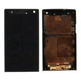 LCD+Touch screen Sony LT26i Xperia S with frame black originalas