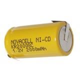Akumuliatorius Ni-CD 1,2V 2000mAh lituojamas
