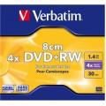 Įrašomas diskas DVD+RW 8cm vaizdo kamerom Verbatim 1,4GB 4x